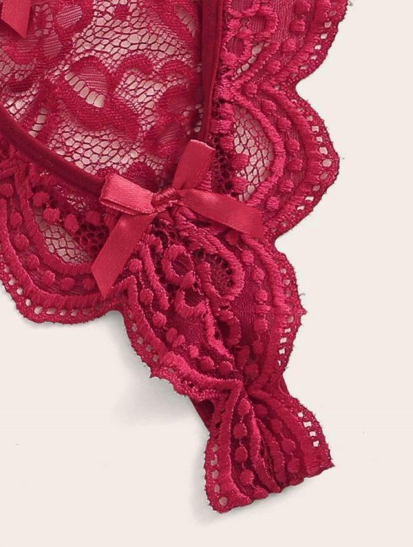 ensemble lingerie dentelle rouge