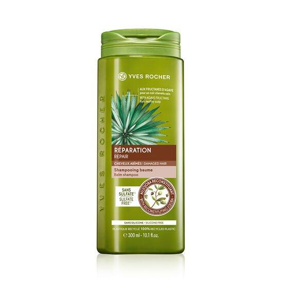 shampoing baume réparation cheveux abimés