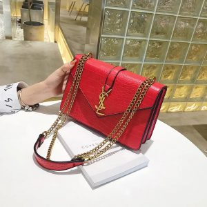 sac femme croco rouge yves saint laurent youreleganceshop