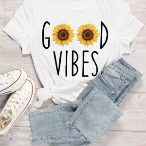 tee shirt femme good vibes dakar