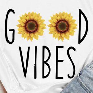 t shirt femme good vibes