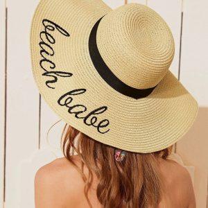 chapeau de paille plage beach babe