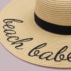 chapeau plage paille beach babe