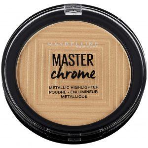 highlighter maybelline master chrome 100 molten golden