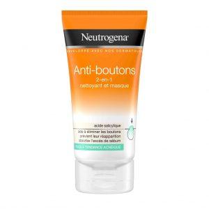 neutrogena nettoyant et masque 2 en 1 anti point noir