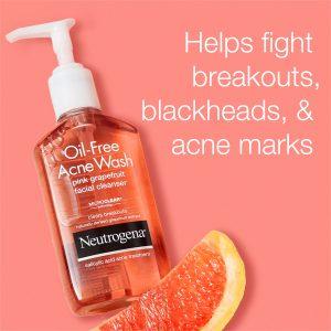 nettoyant visage anti acné point noir pamplemousse rose neutrogena
