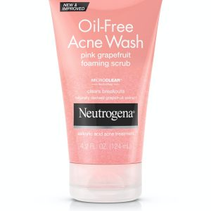 Gommage moussant pamplemousse rose neutrogena acne wash