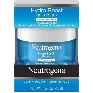 neutrogena hydro boost gel crème hydratant peau sèche